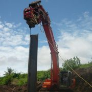 Excavator Mounted Pile Driver Extractor