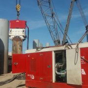 SVR 200 NF-SuezCanal-Port Said-Crane Suspended Vibro Hammer