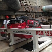 Auger and Casing with Camera Controlled Guided Boring Machine